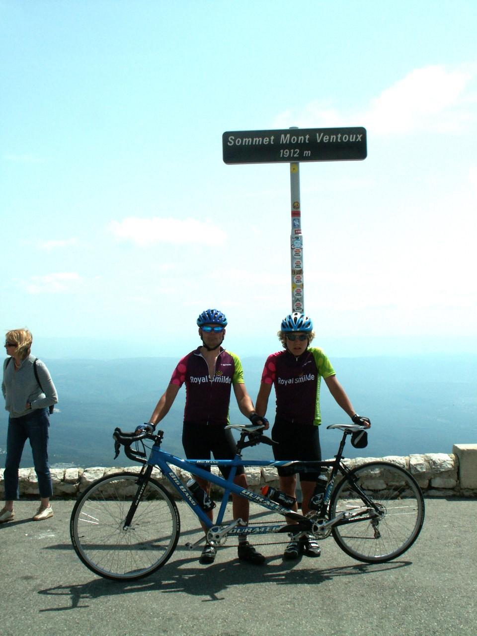 Tristan op de Mont Ventoux
